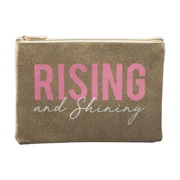 Ruby+cash Glitter Rising And Shining Makeup Pouch - Gold