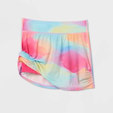 Girls' Printed Performance Skort - All In Motion Rainbow