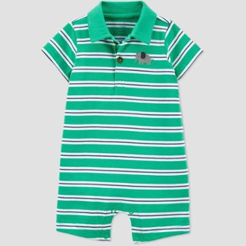 Baby Boys' Elephant Striped Romper - Just One You Made By Carter's Green