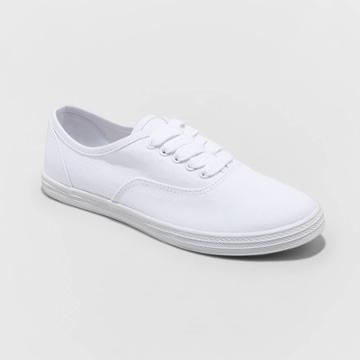 Women's Lunea-wo's Vulcanized Canvas Sneakers - Universal Thread White