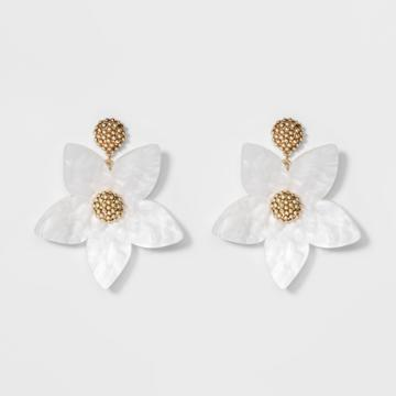 Sugarfix By Baublebar Sugarfix By Bauble Bar Flower Drop Earrings - White, Girl's
