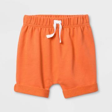 Baby Boys' Harem Coral Shorts - Cat & Jack Sunset 18m, Boy's, Orange
