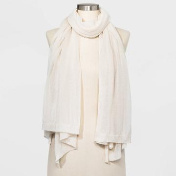 Women's Wrap Scarf - A New Day Cream One Size, Women's, White