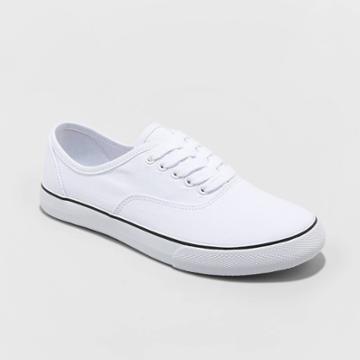 Women's Layla-wo's Vulcanized Wide Width Canvas Sneakers - A New Day White 5w, Women's,