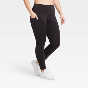 Women's Sculpted Mid-rise Leggings 32 - All In Motion Black Xs