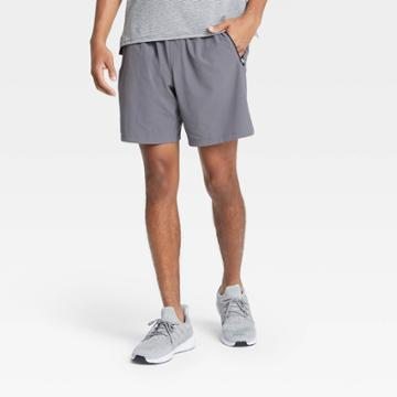 Men's Stretch Woven Shorts - All In Motion Gray S, Men's,