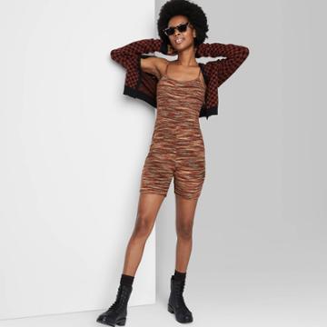 Women's Sleeveless Bike Short Bodysuit - Wild Fable