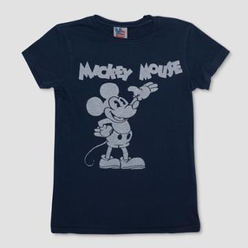 Junk Food Boys' Mickey Mouse Short Sleeve T-shirt - Navy