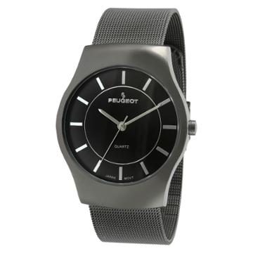 Peugeot Watches Men's Peugeotmesh Bracelet Watch - Gun