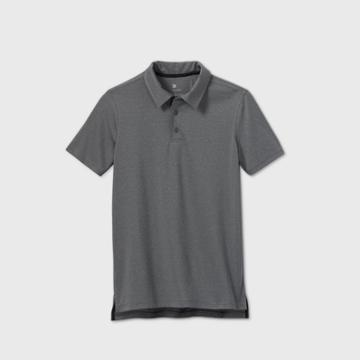 Boys' Solid Golf Polo Shirt - All In Motion Gray