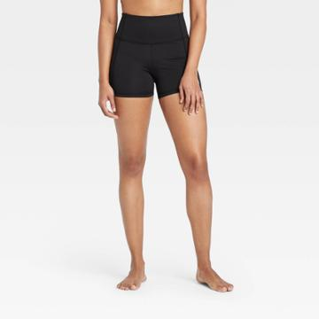 Women's Contour Power Waist High-rise Shorts 4 - All In Motion Black