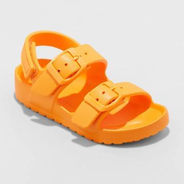 Toddler Boys' Ade Slip-on Footbed Sandals - Cat & Jack Orange