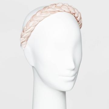 Braided Hard Headband - A New Day Blush