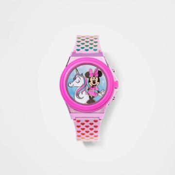 Girls' Minnie Mouse Unicorn Watch - Pink