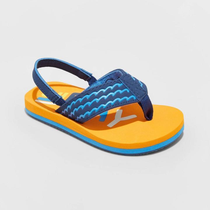 Toddler Boys' Pepin Flip Flop Sandals - Cat & Jack Orange S (5-6), Toddler Boy's, Size: