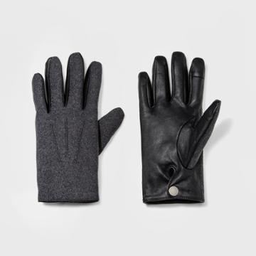 Men's Wear Fabric Leather Glove Gloves - Goodfellow & Co Grey