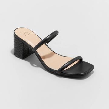 Women's Cris Block Heels - A New Day Black