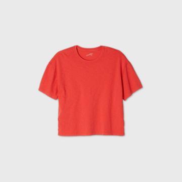 Women's Plus Size Sleeveless T-shirt - Universal Thread Red