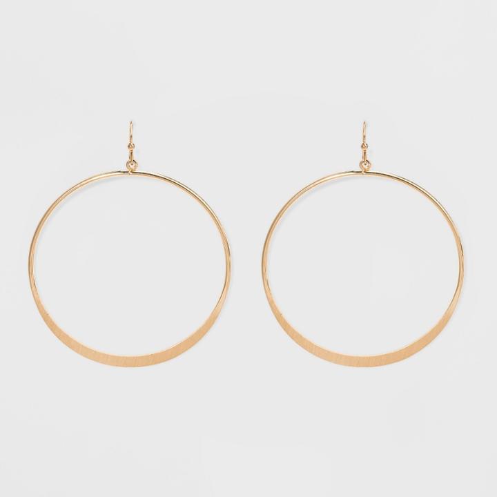 Target Open Drop Hoop Earrings - Universal Thread Gold