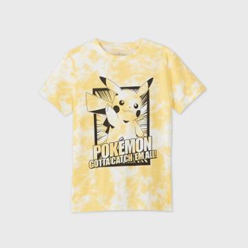 Petiteboys' Short Sleeve Pikachu 'pokemon Gotta Catch 'em All!' T-shirt - Yellow
