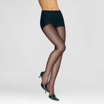 L'eggs Women's Silken Mist 2pk Control Top - Black Q, Women's