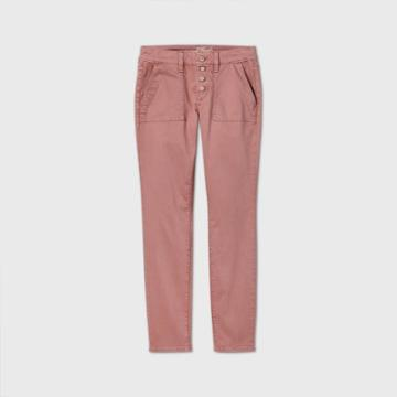 Women's Mid-rise Casual Fit Utility Skinny Ankle Jeans - Universal Thread Pink