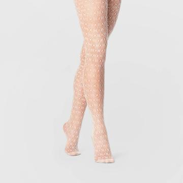 Women's Crochet Tights - A New Day White S/m, Women's, Size: Small/medium, Beige