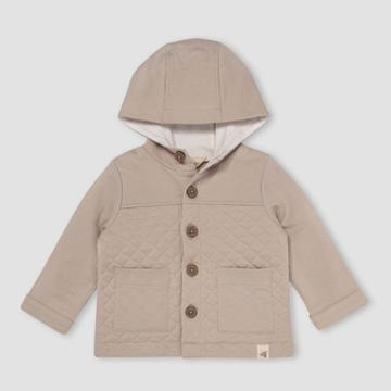 Burt's Bees Baby Baby Boys' Quilted Utility Jacket - Light Taupe