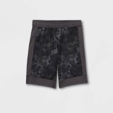 Boys' Basketball Shorts - All In Motion Charcoal Gray