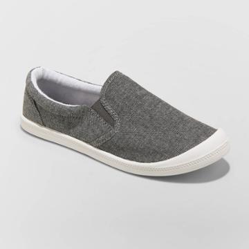 Women's Mad Love Kasandra Slip On Canvas Sneakers - Charcoal 5, Women's, Grey