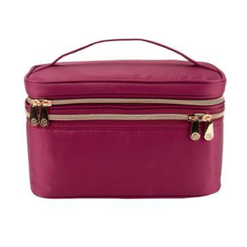 Sonia Kashuk Double Zip Train Case - Burgundy
