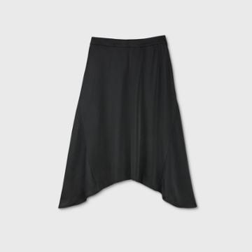 Women's Silky Bell Skirt - Prologue Black