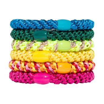 L. Erickson Grab & Go Pony Tube Hair Elastics - Rainbow