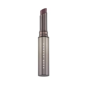 Makeup Geek Iconic Lipstick Savvy Tube Muted Medium Purple With Suble Pink Underts - .07oz