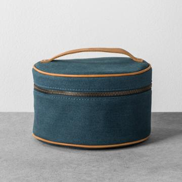Hearth & Hand With Magnolia Cosmetic Bag Canvas - Blue - Hearth & Hand With