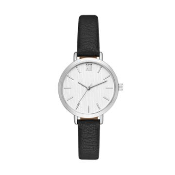 Women's Value Roman Strap Watch - A New Day Silver,