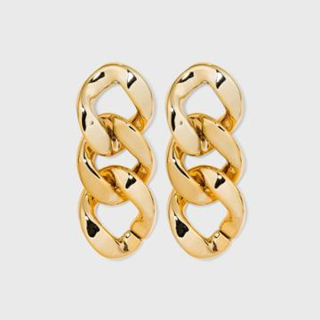 Large Link Drop Earrings - A New Day Gold