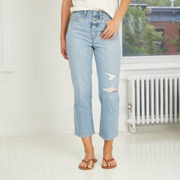 Women's Super High-rise Vintage Straight Jeans - Universal Thread Light Wash