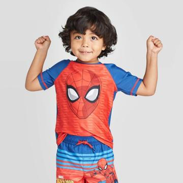 Toddler Boys' Spider-man Rash Guard - Red