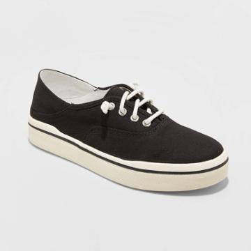 Women's Mad Love Kendra Lace Up Canvas Sneakers - Black