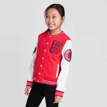 Girls' Disney High School Musical Wildcats Letterman Jacket - Red