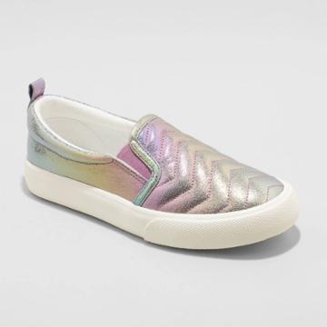 Girls' Nellie Slip-on Apparel Sneakers - Cat & Jack Gray