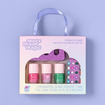 More Than Magic Brilliant & Bright Manicure & Pedicure Gift Set - 7pc - More Than