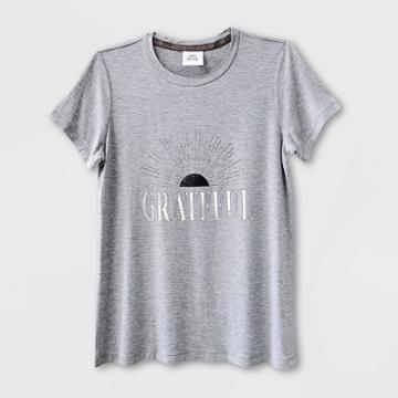 Women's Short Sleeve Grateful Graphic T-shirt - Knox Rose Gray