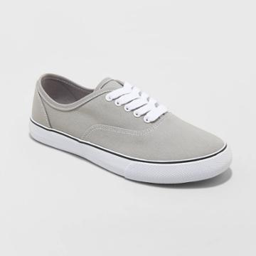 Women's Layla-wo's Vulcanized Wide Width Canvas Sneakers - A New Day Gray 5w, Women's,