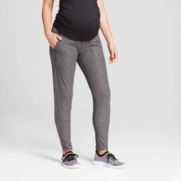 Maternity Straight Fit Over The Belly Sweatpants - C9 Champion Dark Heather Gray Xl, Women's, Black