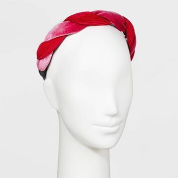 Velvet Twist Headband - A New Day Fuchsia