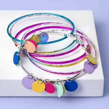 More Than Magic Girls' 7pc Tassel And Sequin Bangle Set - More Than