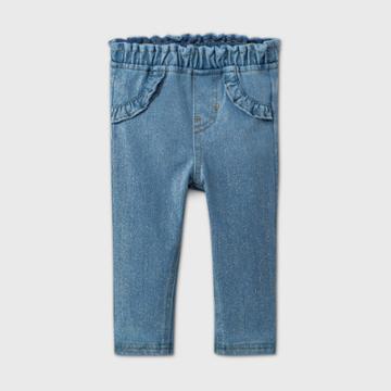 Baby Girls' Long Sparkle Jeans - Cat & Jack Blue Newborn