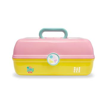 Caboodles On The Go Girl Cosmetic Bag - Pink And Yelllow